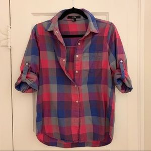 Forever 21 Checkered Flannel Top, Size Small